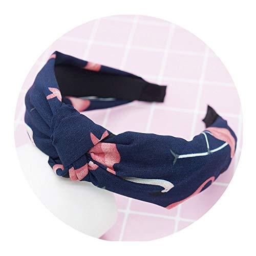 Bond Coffee Saucer (Hot Hair band Flamingo Printed Crossed Turban for women Headwear Girls,Navy Blue)