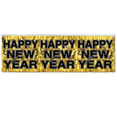 Beistle 88493-GD Gold Metallic Happy New Year