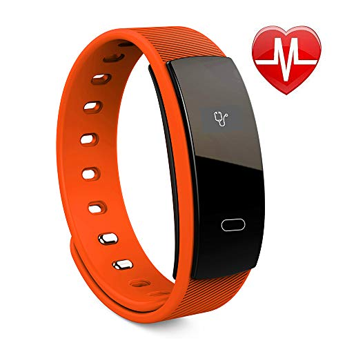 DOFADESI Waterproof Smartwatch- Fitness Tracker with Real-Time Heart Rate Monitor (Red)