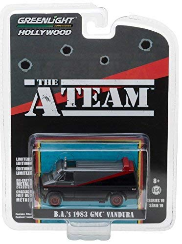 New 1:64 Greenlight Hollywood Series 19 Collection -B A's 1983 GMC Vandura  The A Team (1983-1987 TV Series) Diecast Model Car By Greenlight