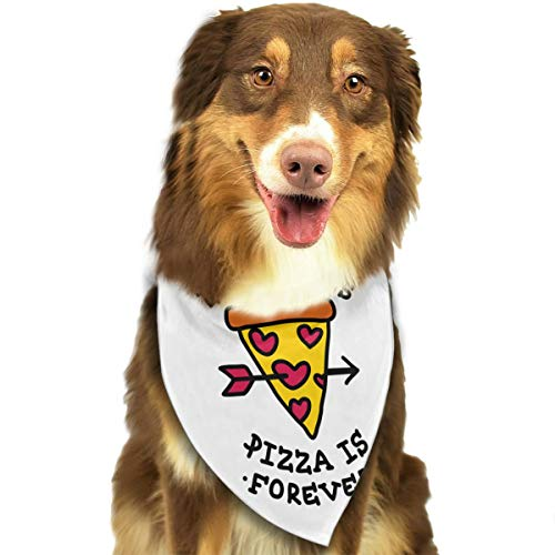 Pet Scarf Dog Bandana Bibs Triangle Head Scarfs Pizza Accessories for Cats Baby Puppy