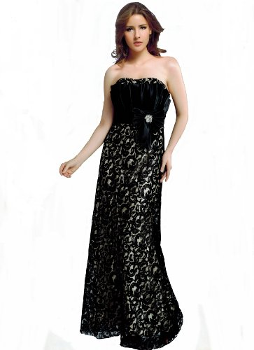 Bodenlanges Abendkleid Satin mit vers Farben Träger 34 Gr Star Michelle Spitzen Ballkleid rqtyxErwT4