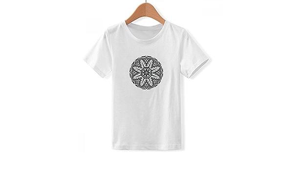 DIYthinker Patrón de Estilo árabe tripulación Cuello Camiseta ...