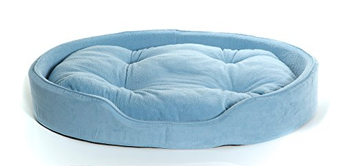 NAP Pet Bed Jumbo Snuggle Terry and Suede Oval Pet Bed, - Bed Oval Terry