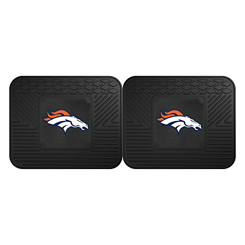 Denver Broncos Floor Rug (FANMATS 12312 NFL - Denver Broncos Utility Mat - 2 Piece)