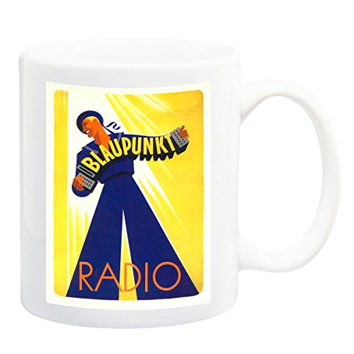 - Blaupunkt Art Deco Radio Advert 1930 Poster Mug - 11 Fluid Oz