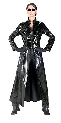 UHC Women's Matrix Trinity Outfit Movie Theme Fancy Dress Halloween Costume, (Matrix Theme Costume)