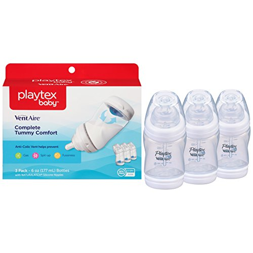 Playtex Baby Ventaire Anti Colic Baby Bottle, BPA Free, 6 Ounce - (A Baby Baby Bottle)