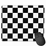 Classic Checkered I Bleed Racing Check Black White Mouse Pad Non-Slip Rubber Gaming Mouse Pad Rectangle Mouse Pads for Computers Desktops Laptop 9.8' x 11.8'