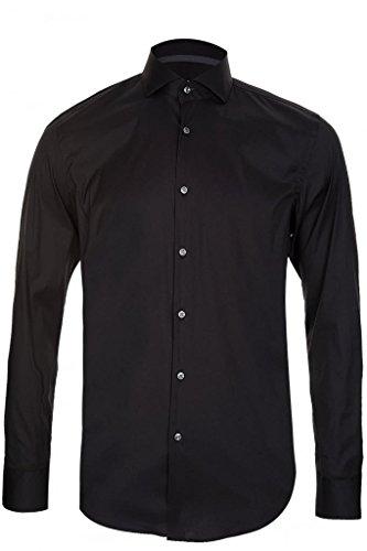 Hugo Boss Jery Black Slim Fit Cotton Dress Shirt Size 15.5