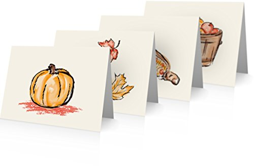 Fall/autumn Variety Pack (24 Foldover Cards and Envelopes)