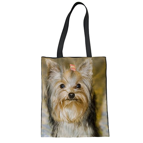 Advocator College Dog Handbags Canvas Durable Bags 6 Tote for Lightweight Shopper Bag Cute Diaper Casual Print Tote Color FUqxwFr