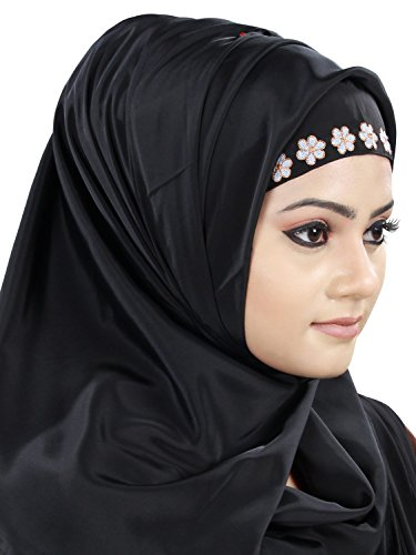 les femmes Mybatua Shahnaz Noir Crêpe musulmanes robe Abaya AY-433