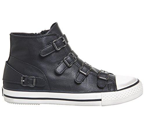 Cuero Zapatos Negro Negro Venus de Zapatillas Mujer Ash IBxwpqSax