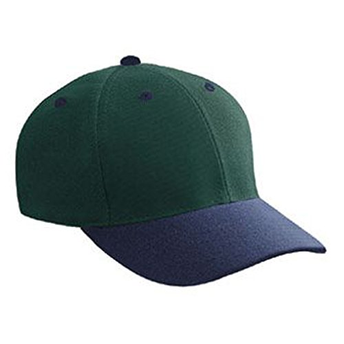 (Product of Ottocap Wool Blend Twill Gray Undervisor Six Panel Low Profile Baseball Cap -NVY/Dk.GRN [Wholesale Price on Bulk])