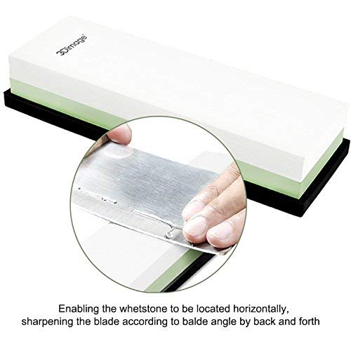 3Dimage® Whetstone 2-IN-1 Sharpening Stone 3000/8000 Grit Whaterstone, Rubber Stone Holder Includedd by 3Dimage (Image #4)