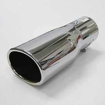 Autohobby 282A - Embellecedor de tubo de escape, universal, acero inoxidable hasta 57 mm de diámetro, cromado: Amazon.es: Coche y moto
