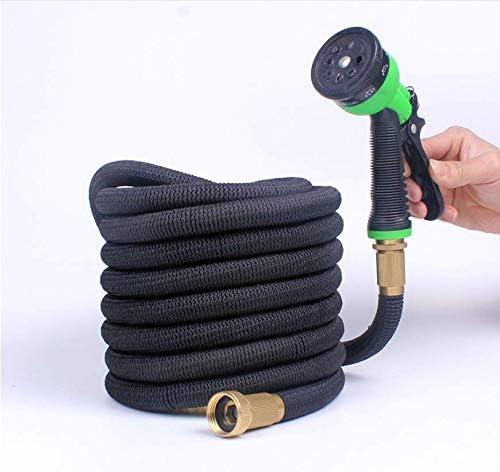 EET Flexible Garden Hoses, Flexible Hose Garden Hose Bewässungs Hose Stretchable Flexible Hose, Garden Pond Hose Stretchable (50 FT Black)