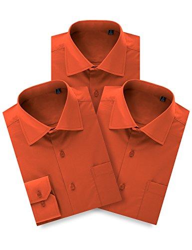MONDAYSUIT Mens 3 Pack Sale Fashion Dress Shirt Reversible Cuff (Big&Tall Avail)
