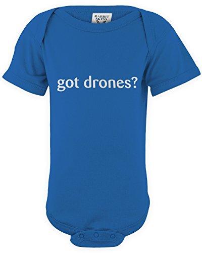 shirtloco Baby Got Drones Infant Bodysuit, Royal 12 ()