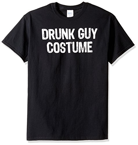 T-Line Men's Halloween Drunk Guy Costume Graphic T-Shirt, Black, Small -