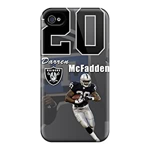 Anti-Scratch Hard Phone Case For Iphone 4/4s With Customized Nice Oakland Raiders Image RudyPugh