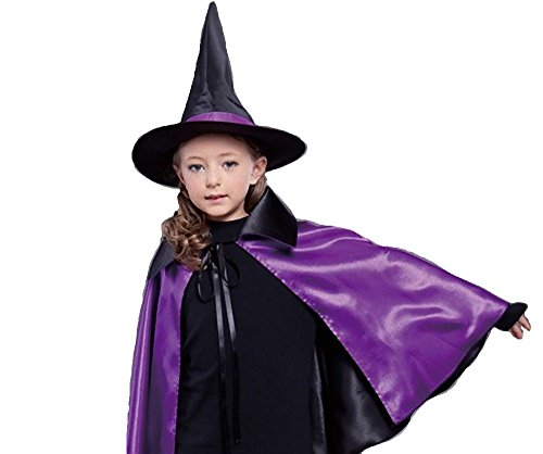 [WT Child kids Witch Costume Halloween decorations ideas (Purple)] (Pirate Halloween Costumes Ideas)