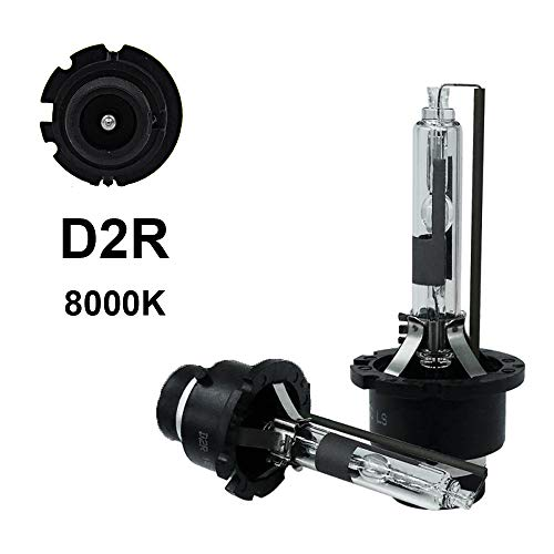D2R - 8000K - 35WXenonHIDHeadlightReplacementBulbs,Dinghang HighAndLowBeamHidHeadlights(2pcs) (D2R, 8000K) ()