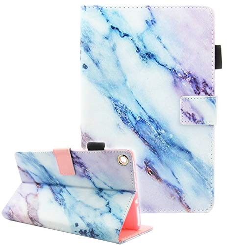 Fvimi All-New HD 8 Case, Slim Fit Folio Stand Leather Cute Design Smart Cover with Auto Wake/Sleep Function for HD 8 8th Generation 2018 / 7th Generation 2017 / 6th Generation 2016, Marble