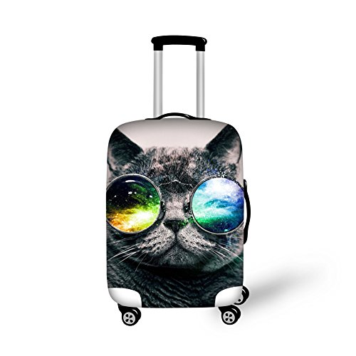 CHAQLIN 3D Sum Glasses Cat Face Printed Luaggage Protective - Glasses Sum