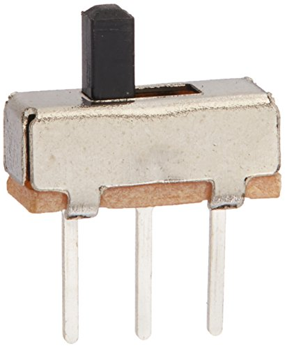 Uxcell a12013100ux0116 High Knob 3P 2 Position 1P2T SPDT Vertical Slide Switch, 0.5 Amp, 50V DC, 50 Piece, 3 mm