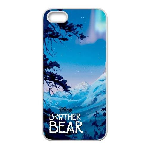 V7Q83 Brother Bear Q5M6DP coque iPhone 4 4s cellule de cas de téléphone couvercle coque blanche HZ8JPH5FI
