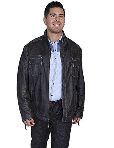 (Scully Men's Vintage Lamb Jacket Black Large)