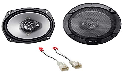Kenwood 6x9 Rear Factory Speaker Replacement Kit for 2002-2006 Toyota Camry