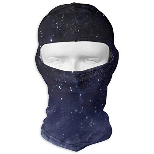 Xuforget The Dark Sky Atmosphere Nebula Fantasy Cosmic Universe Theme Mens & Women's Balaclavas Full Face Mask Hood White