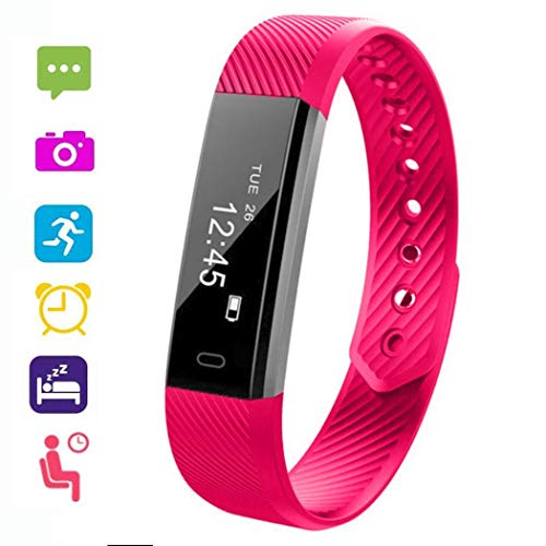 Qenci Unisex Waterproof Smart Bracelet Digital Display Health Wristband Smart Watch for Android and iOS