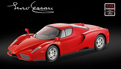 (Licensed 1/14th Scale Ferrari Enzo Ready to Run Die Cast Radio Control Car with Simulated Steering Wheel)