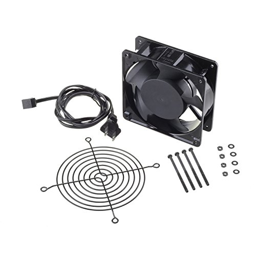 120mm Fan,Zhanye Muffin 1238 AC 120V Computer Axial Cooling Fan, High Speed Exhaust with Metal Net and 4-feet Power Cord by Zhanye (Image #1)