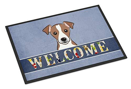 Caroline's Treasures BB1446JMAT Jack Russell Terrier Welcome Indoor or Outdoor Mat 24x36, 24H X 36W, Multicolor 1