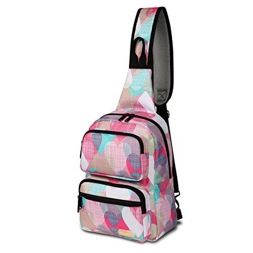 Daxvens Travel Crossbody Backpack for Women, Ladies Hiking Sling Bags, Girls Single Shoulder Daypack Floral - Bag Sling Net