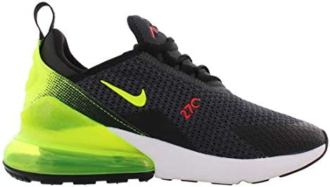 41%2BiqZ4VRSL. AC Nike Mens Air Max 270 SE Running Shoes    Nike makes continuous effort to find the key to unlocking our potential and reveling the maximum effect of every step we take. The new Nike Air Max 270 Se (AQ9164-005) are here in a new all black colorway to help you achieve maximum effect with the most effortless flow. Drawing inspiration from the Air Max 180 from ?91, these pumped up kicks have taken to the new school and made a place for themselves in the Air Max lineage with a stand-out silhouette and bold colorways that make you feel refreshed and energized enough to take on the world. The stretchy zoned mesh was engineered to provide flexible structure for resilient dependable shoes that feel just as comfortable as they look. The asymmetrical lacing systems and neoprene bootie construction gives a snug locked down fit that is cohesive with a 3-piece midsole and heel counter combo for buttery smooth transitions between the heel and toe.