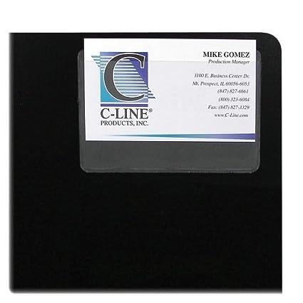 Amazon c line 70257 top load business card holder vinyl 10 c line 70257 top load business card holder vinyl 10 pack colourmoves