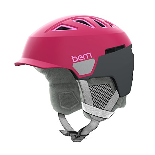 Bern Women's Heist Brim Helmet (Satin Raspberry with Grey Liner, Medium)