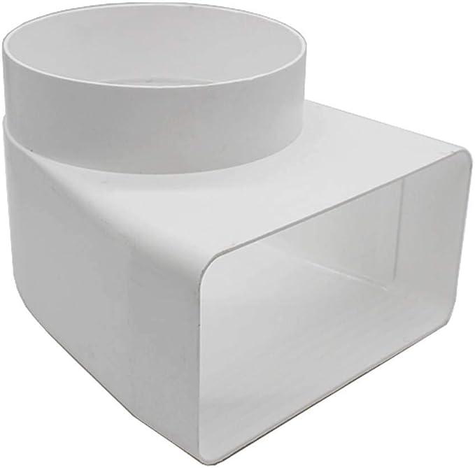 Kair - Adaptador de codo rectangular a redondo (90 grados): Amazon.es: Bricolaje y herramientas