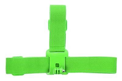 KitVision Coloured Adjustable Head Strap Mount For Gopro Hero Range And Edge Hd10/Splash/Escape 5/Escape 5W - Green