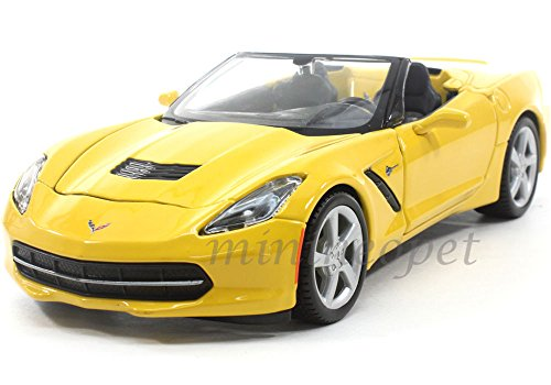 Convertible Stingray (MAISTO 31501 2014 14 CHEVY CORVETTE C7 STINGRAY CONVERTIBLE 1/24 DIECAST YELLOW ,#G14E6GE4R-GE 4-TEW6W207163)