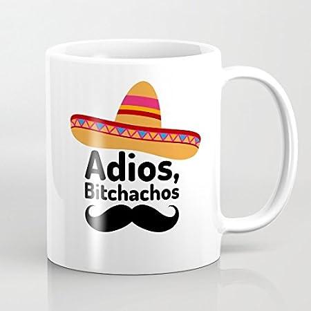 Qemingyer Adios Bitchachos Tazas Marido Taza Regalo para ...