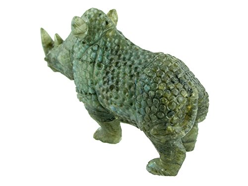 Rhino Carving in Labradorite Collectible Item by Simplicity (Image #1)