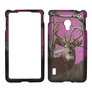 2D Pink Deer Pine LG Lucid 2 II VS870 Verizon Case Cover Phone Snap on Cover Cases Protector Faceplates