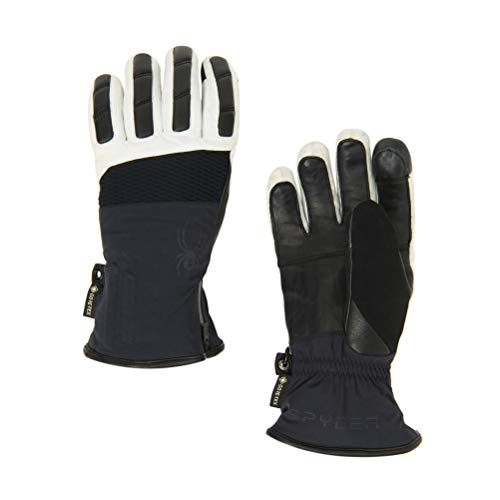 Spyder Mens Pinnacle GTX Ski Glove (Black White/Large)